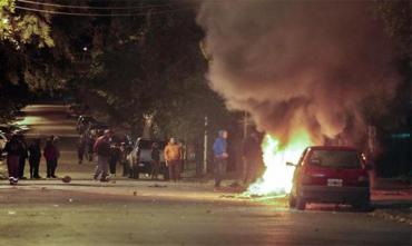 Otra jornada de incidentes y protestas en Santa cruz