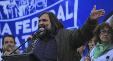 Baradel en la marcha federal educativa: