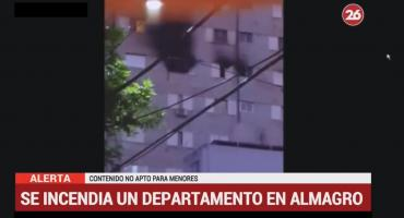 Almagro: incendio frente al Hospital Italiano